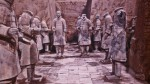chinese warriors in stone
